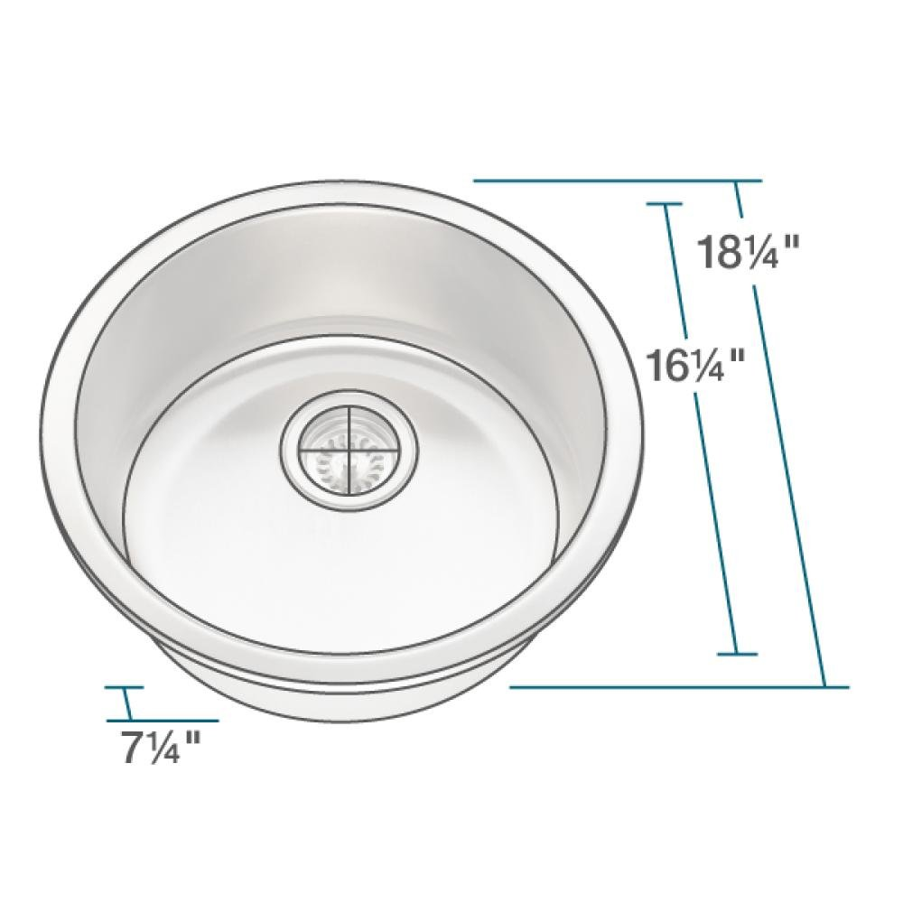 465 16-Gauge Stainless Steel Kitchen Ensemble (Bundle - 4 Items: Sink, Basket Strainer, Sink Grid, and Cutting Board) by MR Direct (Image #7)
