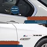 1 Alloy Decal M Badge Color Sports Performance Side Silver Sticker Badge For All BMW