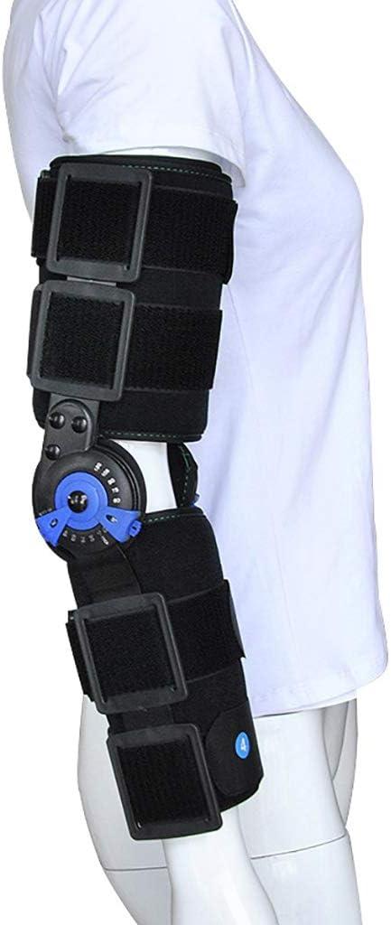 Órtesis de Codo ROM con bisagras Ajustables Codo ortopédico con Eslinga Codo ortopédico Estabilizador Férula Brazo Soporte de recuperación de Lesiones Protector de fracturas Recuperación de Lesiones