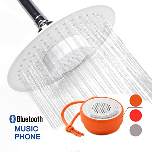 YOO MEE Waterproof Bluetooth Phone White Portable Speakers product image