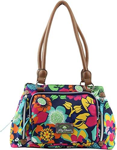 Lily Bloom Triple Section Maggie Multi-Purpose Satchel Bag (Floral Fiesta)