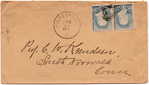 (US Postal Cover 1888 With 2 One Cent Franklin Postage Stamps Scott #212)