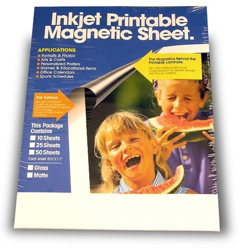 Magnetic Printable Sheets, Matte, Inkjet Ready, Make Your Own Personalized Magnet! (Jet Magnet)
