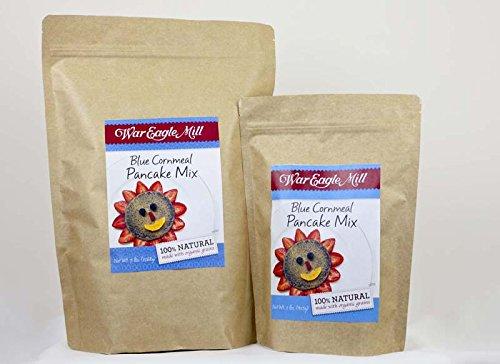 War Eagle Mill Blue Cornmeal Pancake Mix in a resealable bag (2 ()