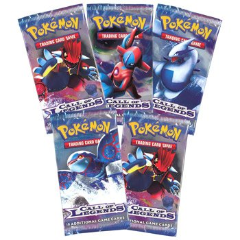 Pokemon Cards - CALL OF LEGENDS - Booster Packs (5 pack lot) by Pokemon (Image #1)
