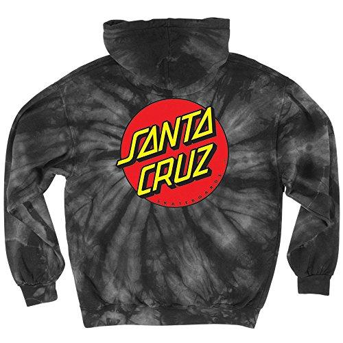 Santa Cruz Classic Dot Pullover Hooded L/S Men's Sweatshirt (X-Large, Spider Black) (Santa Hoodie)