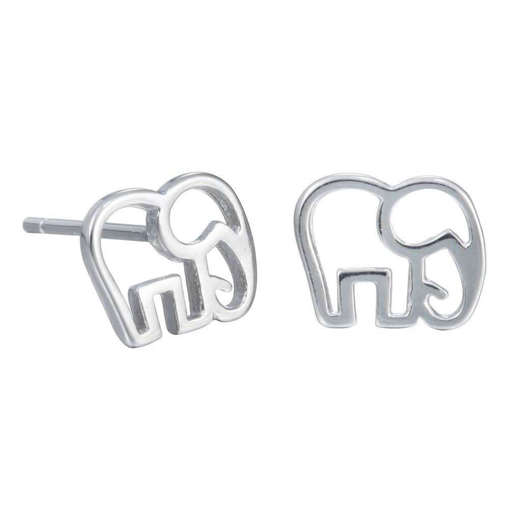 Qiandi 925 Sterling Silver Cute Animal Elephant Piercing Stud Earring Women Girl Christmas Gift XCC9250053-94