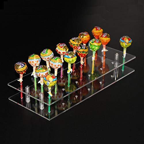 (TRANSHOME 20 Hole Lollipop Stand Acrylic Display Shelf Cake Pop Holder(20 Hole))