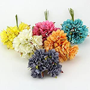 30PCS 4CM Carnation Silk Artificial Flower Bouquet For Home Wedding Party Decoration DIY Wreath Gift Box Scrapbooking Fake Flowers 3