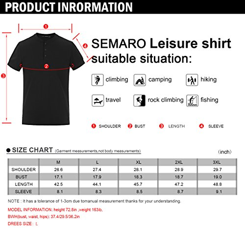 Men Casual T Shirt V Neck Short Sleeve Cotton Button Stylish Loose Slim Fit Sport Workout Outdoor Wear Gym Beach Party Hiking Travel Business Working Weekend Henley Shirts High Elasticity(MArmyGreen) by VAVE (Image #6)