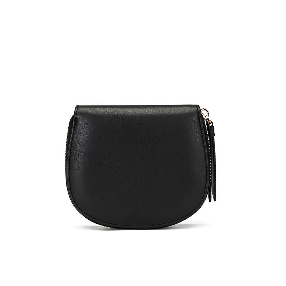 Black Womens RFID Walllet Women Wallets Blocking Leather Ladies Wallets Long Clutch Purse Large Capacity Zipper Wallet Women's Leather Zip Around Wallet,Women Blocking W (color   Black)