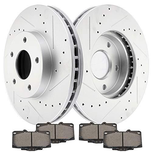 (cciyu Front Premium Brake Rotors + Ceramic Brake Pads fit for 1989 1990 1991 1992 1993 1994 1995 1996 Nissan 300ZX)