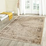 "Safavieh Vintage Premium Collection VTG113-660 Transitional Oriental Warm Beige Distressed Silky Viscose Area Rug (4' x 5'7"")"