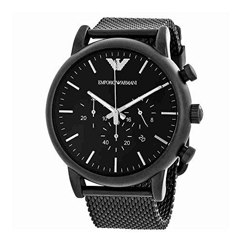 Emporio Armani Men's AR1968 Dress Black Quartz Watch ()