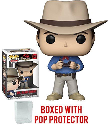 Funko Pop! Movies: Jurassic Park - Dr. Alan Grant Vinyl Figure (Bundled with Pop Box Protector Case)