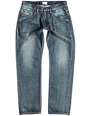 Men's Sequel Vintage Cracked 32 in. Regular Fit Jeans and HDO Travel Sunscreen (15 SPF) Spray Bundle