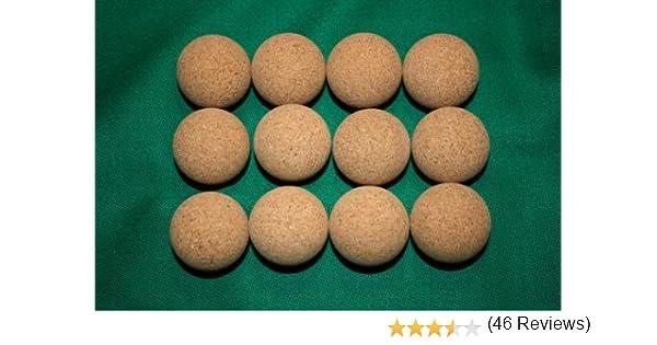 Set de 12 pelotas de corcho para futbolín (silenciosas): Amazon.es ...