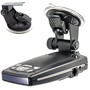 ChargerCity Car Dashboard & Windshield Suction Cup Mount Holder for Escort Passport 9500ix 9500i 8500 8500x50 7500 S55 Solo S2 S3 and Beltronics GX65 RX65 Vector 975 965 Radar Detectors