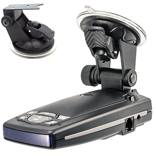 ChargerCity Car Dashboard & Windshield Suction Cup Mount Holder for Escort Passport 9500ix 9500i 8500 8500x50 7500 S55 Solo S2 S3 and Beltronics GX65 RX65 Vector 975 965 Radar Detectors ()