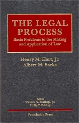 Hart & Sacks' The Legal Process: Basic Problems in the Making and  Application of Law (University Casebook Series®) by Eskridge, William N.,  Jr. published by Foundation Pr (2001): Amazon.com: Books