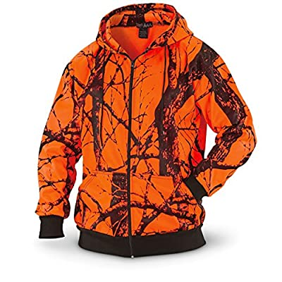 WFS Thermal Lined Fleece Blaze Orange Camo Hooded Sweatshirt