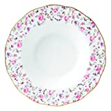 Royal Albert Rose Confetti Formal Vintage Rimmed Soup/Salad Bowl