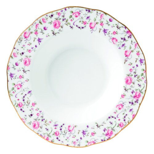 Royal Albert Rose Confetti Formal Vintage Rimmed Soup/Salad Bowl by Royal Albert