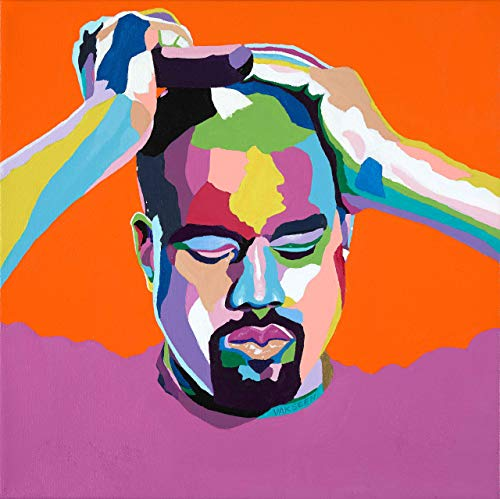 Vakseen Art - Mood Kanye - Kanye West portrait art - Yeezy art - Limited Edition Giclee Print & Framed Pop Art for Wall Decor