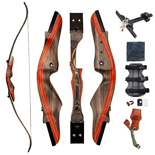 """SinoArt 62"""" Takedown Recurve Bow Archery Bow 30-50Lbs (Right Hand"""