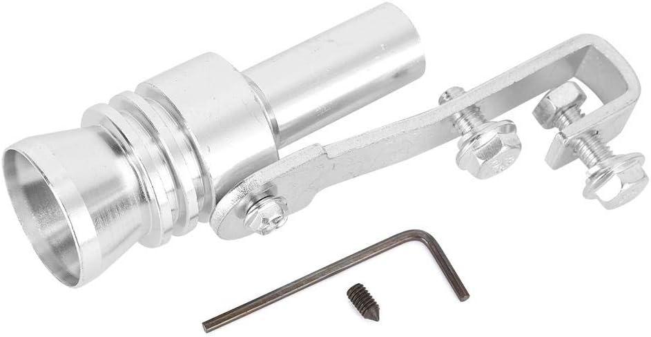 Cola Garganta Tubo de escape Silbato Aleaci/ón de aluminio Plata TC-L EBTOOLS Modificaci/ón del coche Turbo Sonido Silbato