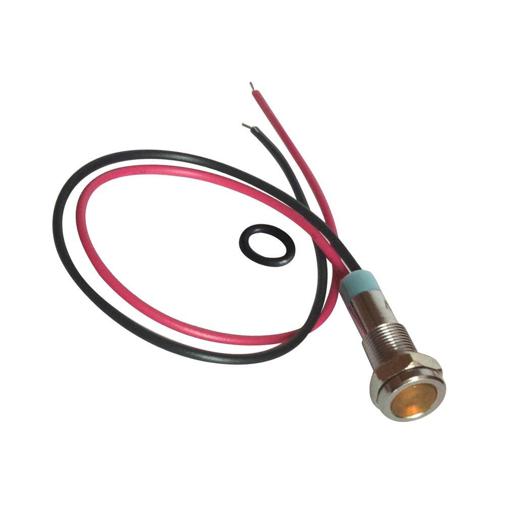 Almencla 2 Pi/èces Indicateur de M/étal /à LED Antipoussi/ère Lampe de Signalisation