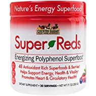 Country Farms Super Reds Energizing Polyphenol Superfood, Antioxidants, Drink Mix, 20 servings