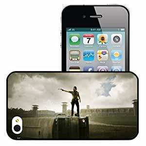 Personalized iPhone 4 4S Cell phone Case/Cover Skin The Walking Dead Black