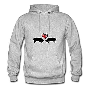 Women Sau_love_c2 Hoodies -x-large Round-collar Printed Grey