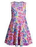 Jxstar Little Girls Summer Rainbow Dress Unicorn Sleeveless 130