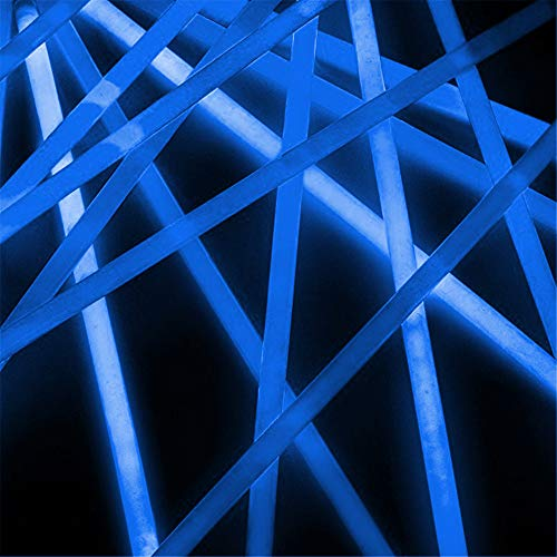 Lumistick Premium 22 Inch Glow Stick Necklaces with Connectors | Kid Safe Non-Toxic Glowstick Necklaces Party Pack | Available in Bulk and Color Varieties | Lasts 12 Hours (Blue, 600) by Lumistick (Image #7)