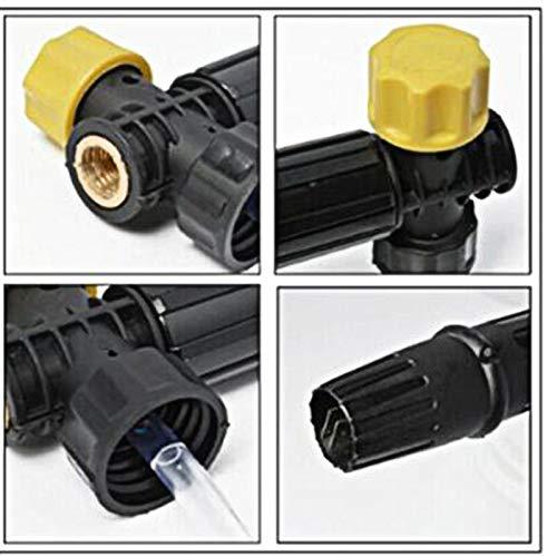 Equickment Adjustable Foam Lance Soap Dispenser,Bottle for Karcher K2-K7 Washer Cannon Jet ,High Pressure Car Wash Foam Pot