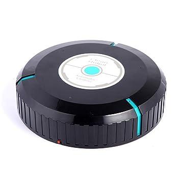 Robot aspirador, creativos Robot limpiador automático mini de robot de vacío Sweeper con 20pcs microfibra Tissue Ideal para mascotas y alergias Home negro: ...