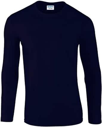 Camiseta de manga larga de Gildan, para hombre, textura suave