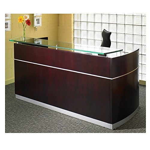 Mayline Napoli 87'' W Office Reception Desk for Offices, Salons, Waiting Rooms by Mayline