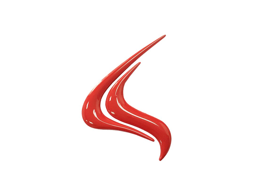 Dian Bin-The Red Small Fire Flame Metal Sticker Vehicle-logo Badge Emblem for Mitsubishi Available