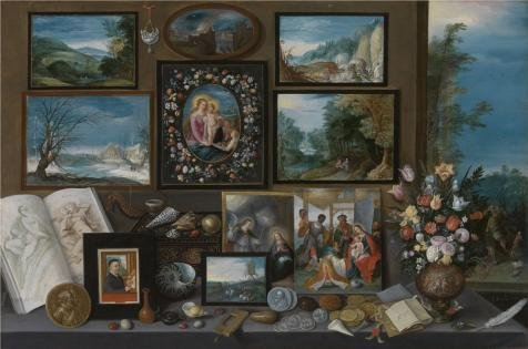 [Oil Painting 'A Collection By Frans Francken II,first Half Of 17th Century', 30 x 45 inch / 76 x 115 cm , on High Definition HD canvas prints is for Gifts And Foyer, Kids Room And Nursery] (Costumes Halloween Yahoo)