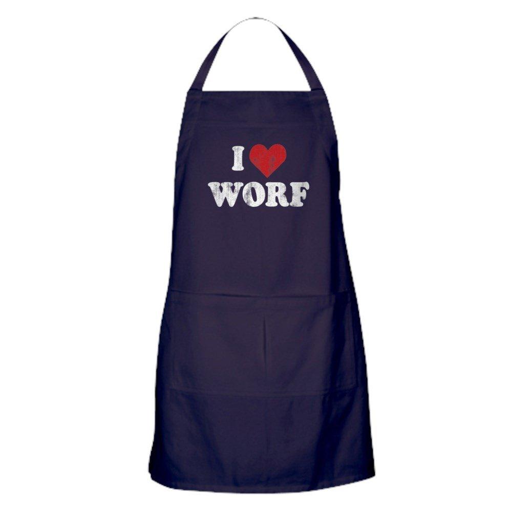 CafePress - スタートレック I Heart Worf - ポケット付きキッチンエプロン グリルエプロン ベーキングエプロン   B078T4MZ6C