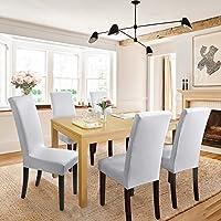 Fundas para sillas Pack de 6 Fundas sillas Comedor Fundas elásticas, Cubiertas para sillas,bielástico Extraíble Funda, Muy fácil de Limpiar, Duradera ...
