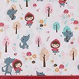 Hanjunzhao Cute Animals Fat Quarters Fabric
