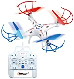 Top Race 4-Channel Quad Copter Drone, Ultra Stable with 1 Key Return & Headless Mode Option (TR-411)