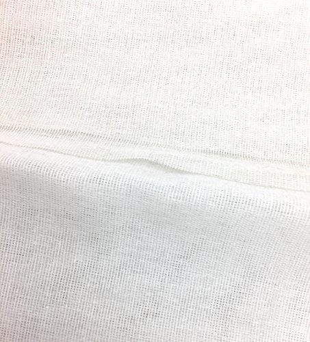 Industrial Raw Edge Belt - Stiff Woven BUCKRAM INTERFACING FUSIBLE Med.Weight White, 2 yards x 58''