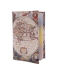 ECO Leather passport cover for travel Documents holder Designer case men women (ancient map)