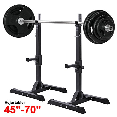 World Pride Adjustable Exercise Squat Stands Barbell Bench