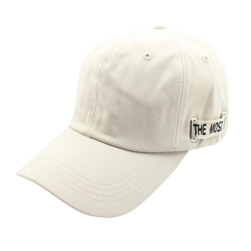 ❣❣ Ratoop❣❣Womens Mans Cotton Embroidered Unisex Baseball Caps Adjustable Beige
